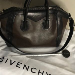 Authentic Givenchy Tote Rare Brown/Black Leather.